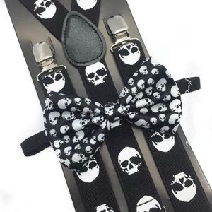 Accessories - Gothic Steampunk Skull Suspenders and Bow Tie Set